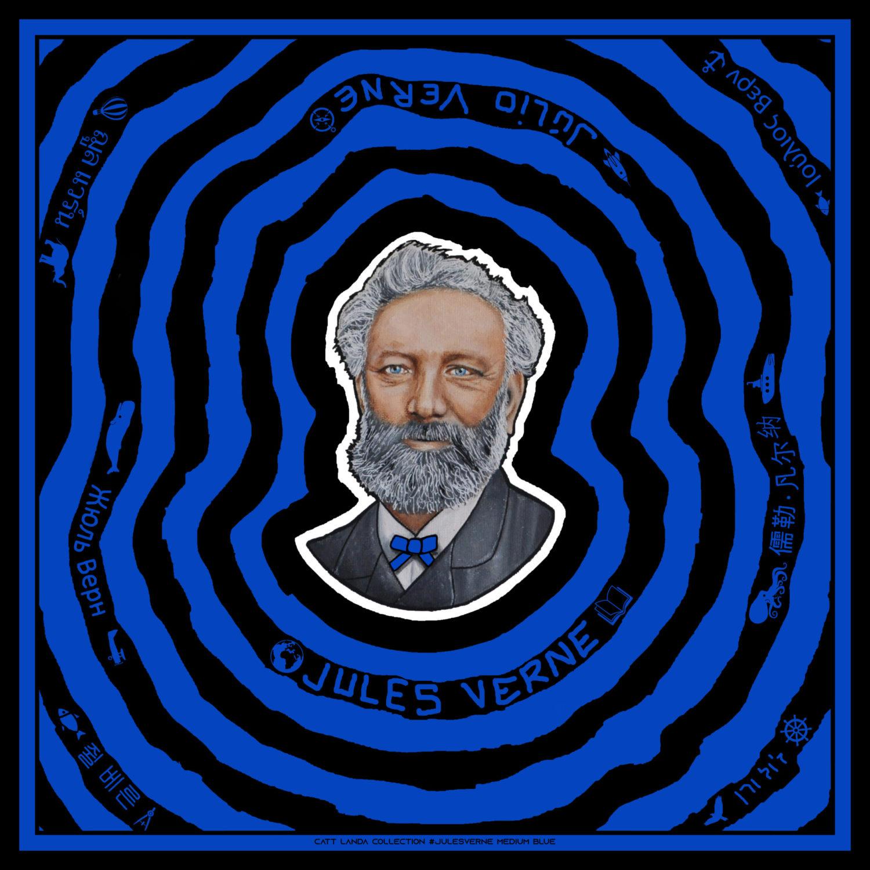 JULES VERNE Medium Blue