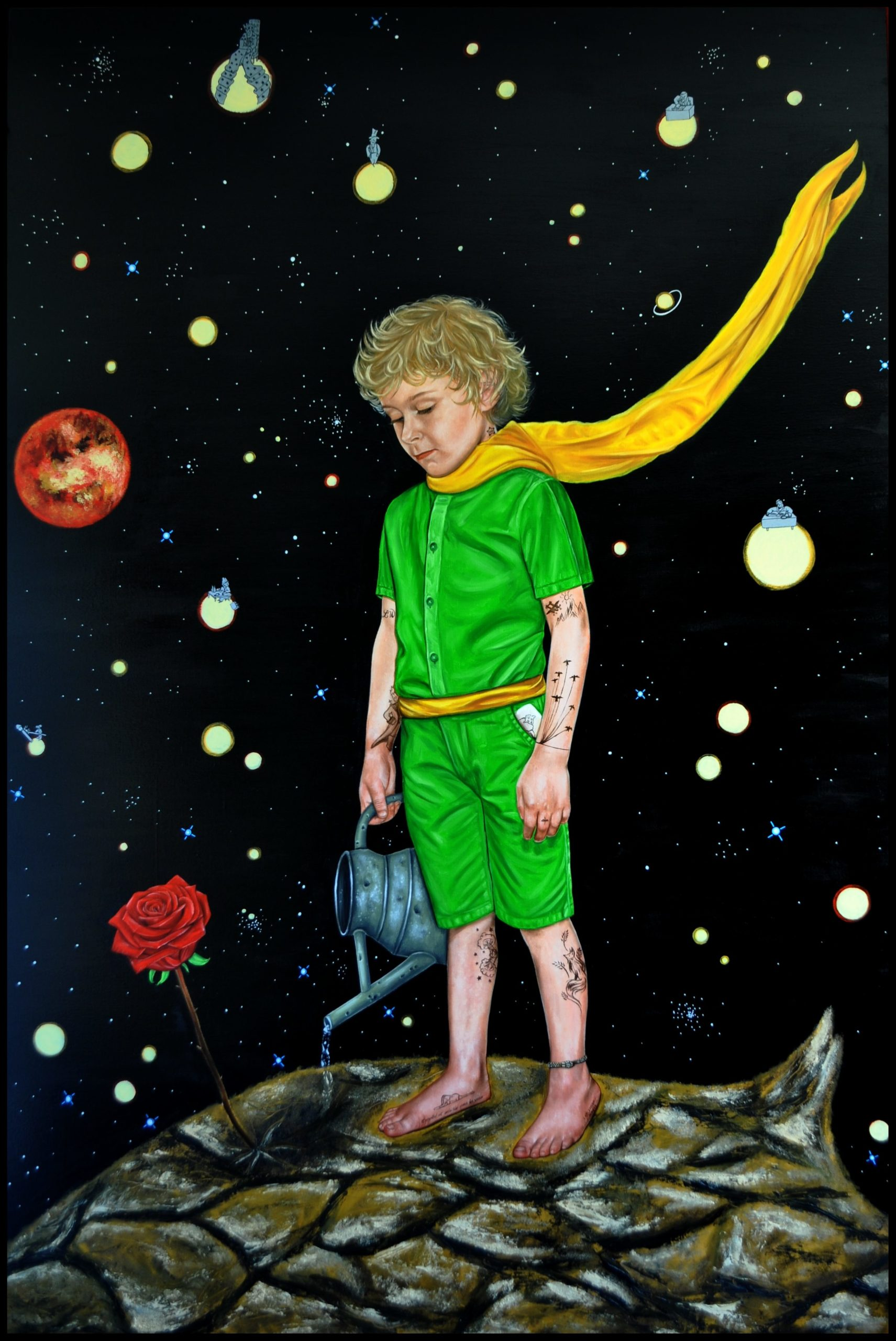 the lil prince painting