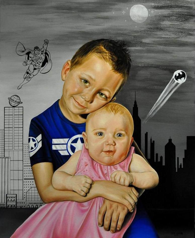 Portrait de Matéo et Tara