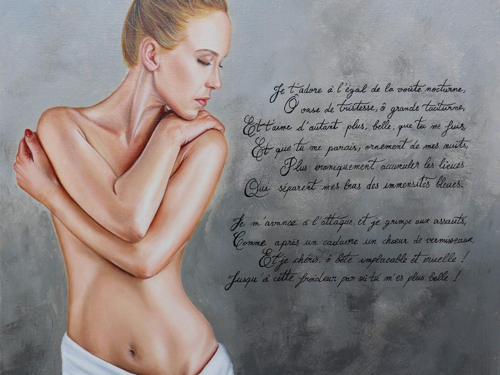 Je t'adore à l'égal de la voute nocturne, acrylique et huile sur toile de lin, 50x50 cm, 5 avril 2021, 2500 px